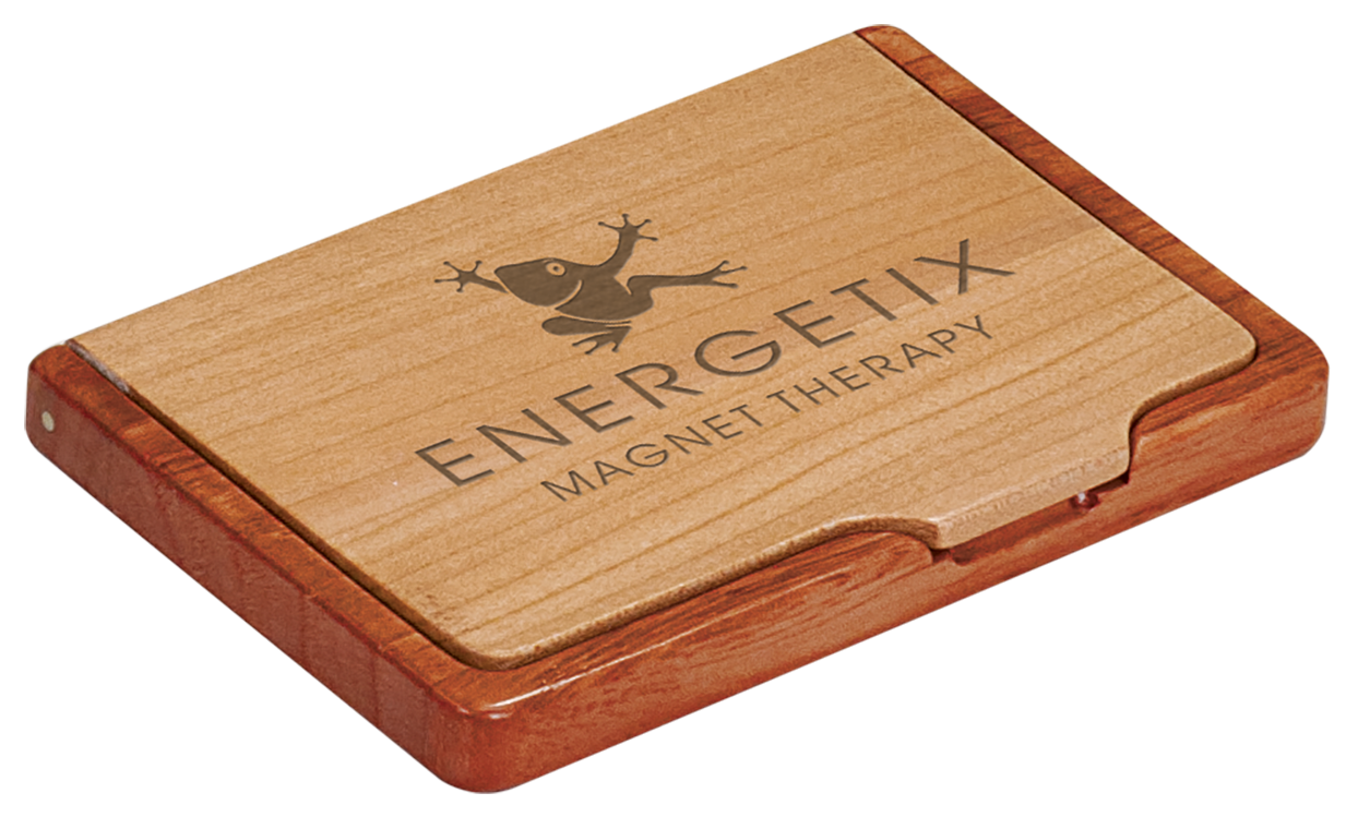 Maple & Rosewood Finish Business Card Holder   Precision Signs